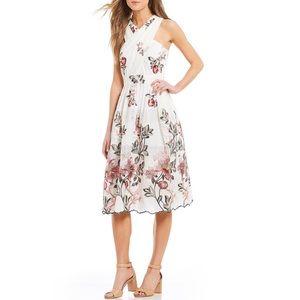 Antonio Melani Floral Eyelet Midi Dress